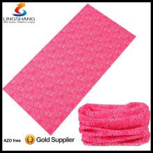 pink 100% polyester wholesale outdoor multifunctional seamless tubular bandana