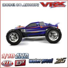 1/10 escala 4WD alta velocidade carro rc, atualização carro rc elétrico