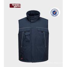 OEM Mens Multi Pocket Workwear Winter Man Padded Vest 2017