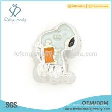 Floating locket cartoon enamel charm,cheap floating charms for bracelets