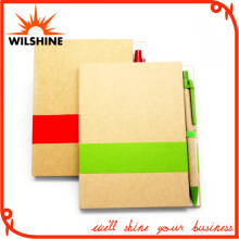 Customized Glue Bound Paper Notebook with Pen for Promotion (SNB102)