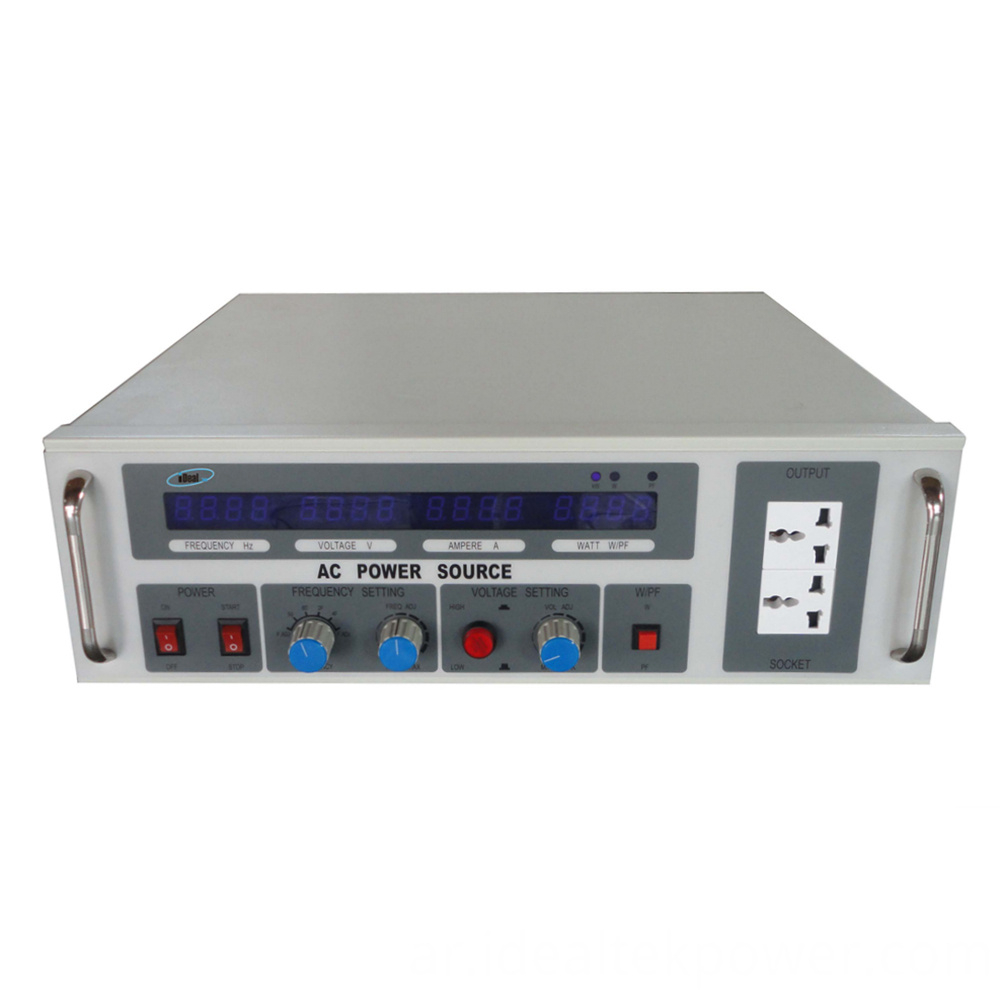 3u Ac Power Supply Front Panel