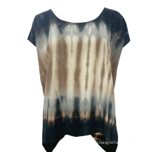 Spring Summer 2021 Fashion Cool And Soft Handfeel Ladies Tie Dye Casual T-Shirt