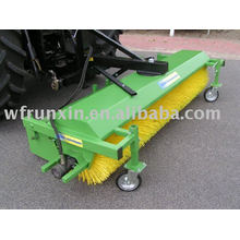 road sweeper attached with tractor