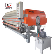 Imprensa do filtro dos PP da câmara da membrana de Zhejiang Auto X1500