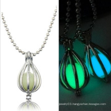 New Design Fahsion Glow In The Dark Loket Jewelry hollow Out Necklace