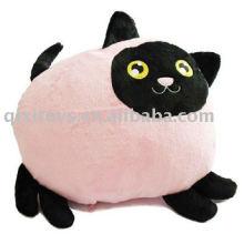 cute stuffed cat cushion,plush&soft cartoon animal toy