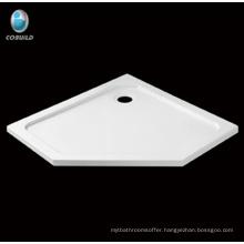 Irregular acrylic fiberglass shower tray