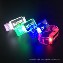 Décorations de fête d'anniversaire 2017 Bracelet clignotant
