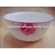 Tazones de cerámica blancos de China del hueso del bulto del diseño del estilo caliente de la venta los nuevos