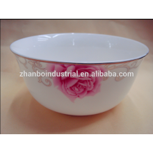 Hot sale new Style fashionable design bulk white ceramic bone china bowls