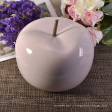 Pink Apples Fruit Artificial Fruit Ceramic Decorations Table Centerpiece