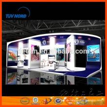 Stand de exhibición de exhibición de cabina de esquema de shell durable personalizado