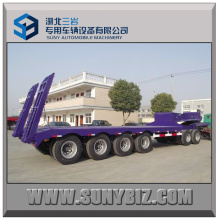 100t 4axles Low Bed Semi Trailer