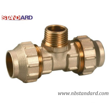 Brass Screw Fitting/PPR Fitting/Male Tee/Tube Fitting/Pipe