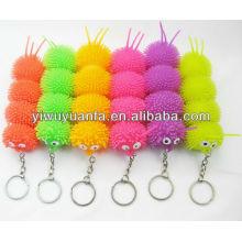 Flashing Puffer Ball Keychain