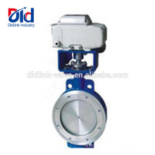 Damper Three Eccentric Multi-level Hard Metal Seated Butterfly Valve With Pneumatic Actuator