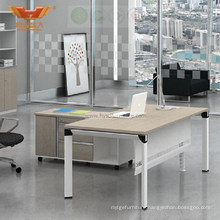 Modern L Shaped Wooden Top Office Executive Desk Office Furniture (H50-0101)