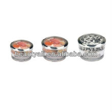 5g 10g 15g 30g 50g 100g tapered acrylic jar cosmetic packaging