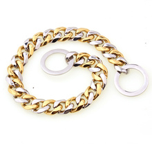Factory Drop Shipping 12mm/17mm Stainless Steel Dog Chains Luxury  Dog Collar Pet Supplies For Pet Training Collar