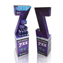Innovative Karton Dumpbins Display für Schlaftabletten, PDQ Display Stand