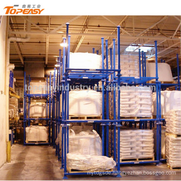 Stackable 3 layers heavy duty frame rack for goods storage