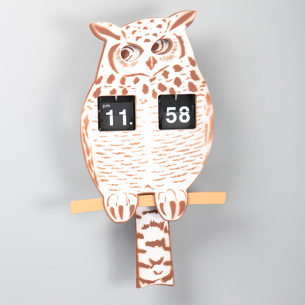 digital owl clock