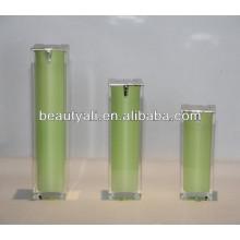 15ml 30ml 40ml 50ml 80ml 100ml 120ml Square Packaging Airless Cosmetic Bottle