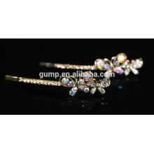 Schmetterling Form Shiny AB Strass Barrette Bobby Pin