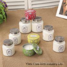 Bougie décorative de soja en verre de haute qualité avec le parfum