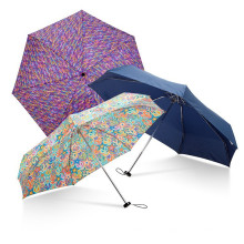 Продвижение Мода Дамы Подарок Алюминиевый Малый 5 Раз Супер Компактный Мини-Зонт В Чехол
