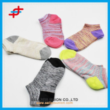 OEM Promotion Candy Colored Girls Cotton Welt Ankle Sock