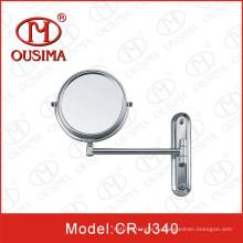 Подвижное настенное круглое косметическое зеркало, зеркало для макияжа