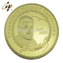 Pièce commémorative commémorative de président de superstar de visage célèbre d'or de métal fait sur commande professionnel