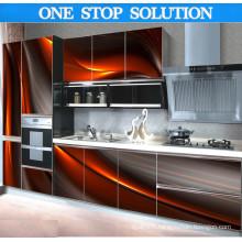 Cabinet de cuisine efficace moderne en forme de U en forme de U