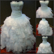 Fairy Tale 2014 High Quality French Lace and fabulous Organza Layers Wedding Dress