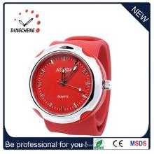 Promotion Sport Handgelenk Kunststoff Mode Silikon Slap Uhr (DC-097)