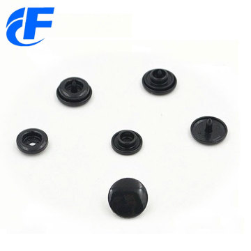 Custom Black Plastic Snap Button Fastener For Clothes