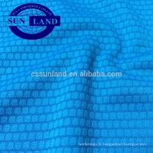 tissu de sports de football en jacquard en tricot de polyester tricoté en polyester