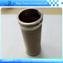 Cylindre de filtration d'eau en acier inoxydable