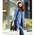 Winter Warmer Mulheres Long Red Cardigan Knit Sweater Coat
