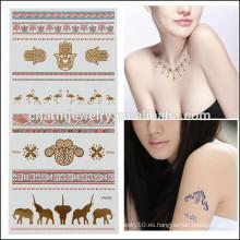 OEM Tatuaje caliente al por mayor del cuerpo de la alta calidad de la etiqueta engomada de los tatuajes del brillo de la venta V4628