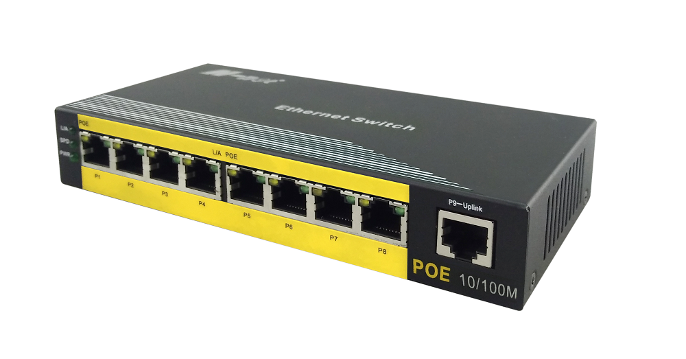 POE Switch 8 منافذ 10 / 100M غير مدار