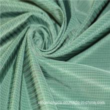 Tissu tissé en sergé Plaid Check simple Oxford Outdoor Jacquard 100% Tissu en polyester (X045)