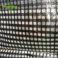 Водонепроницаемый черный прозрачный брезент с квадратной сеткой