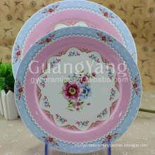 Inexpensive Products New Bone China Bulk White Ceramic Dinner Plates