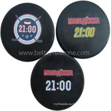 Disco de hockey sobre hielo de goma de silicona