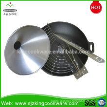 Cast iron wok set