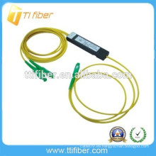 2 vías mini caja de plástico SC APC FBT fibra óptica divisor