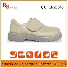 Sapatos de trabalho Goodyear com couro de ação branco RS807